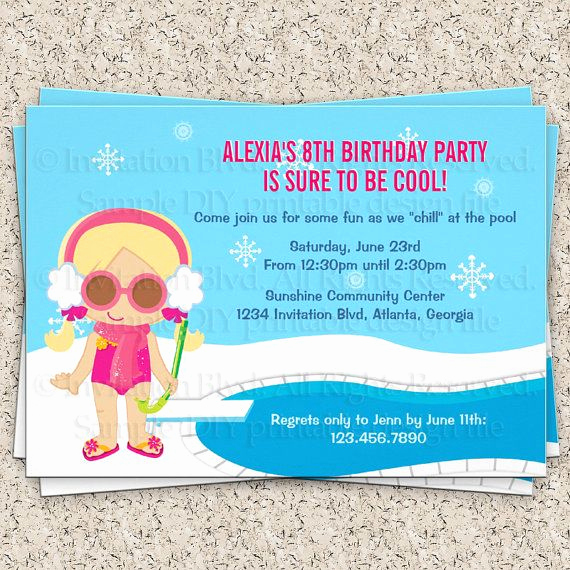 Pool Party Invitation Wording New Indoor Pool Party Invitations