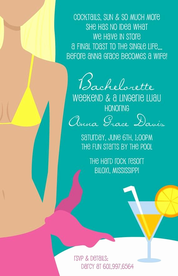 Pool Party Invitation Wording Unique Sweet Wishes 10 Bridal Shower Lingerie Bachelorette Beach