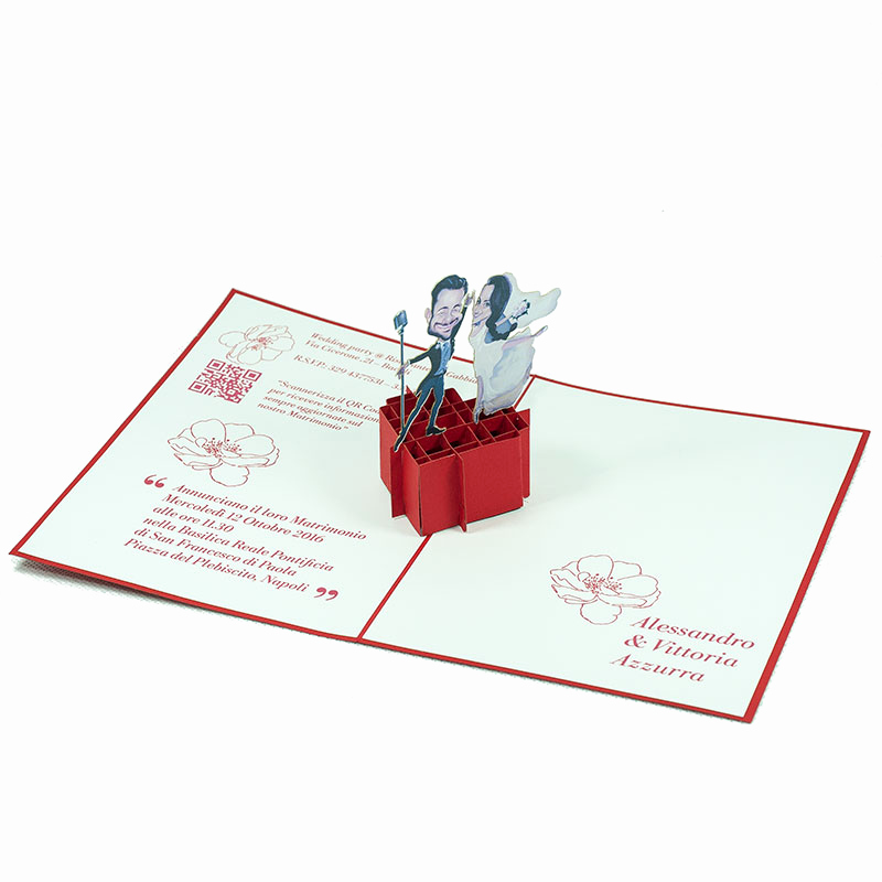 Pop Up Invitation Card Beautiful Pop Up Wedding Invitation Card Custom 3d Card Supplier