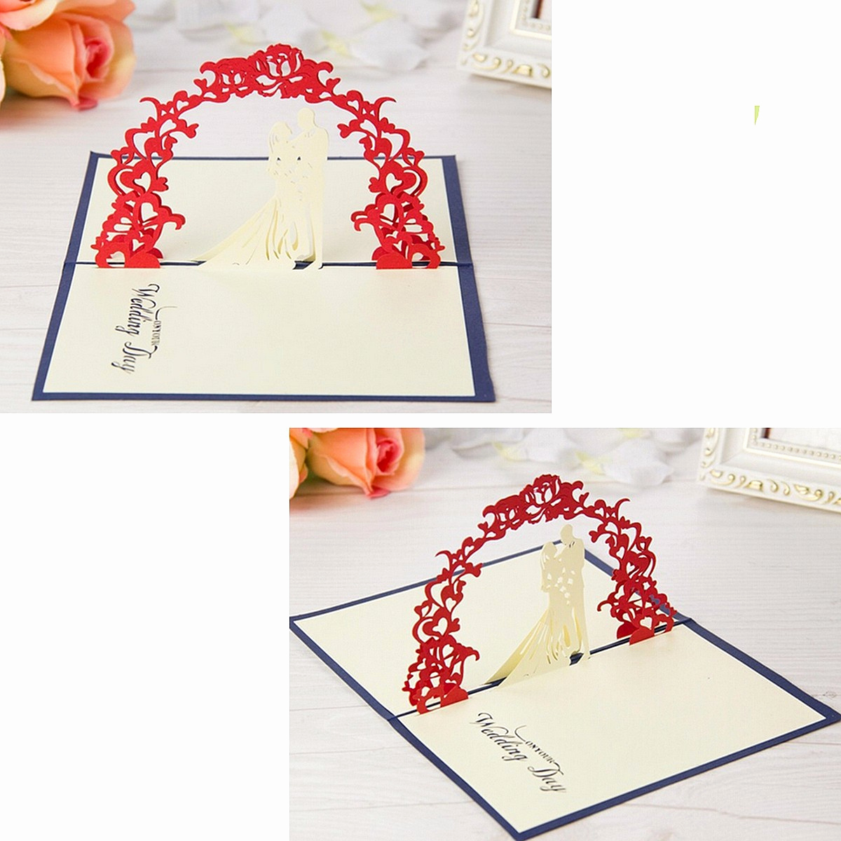 Pop Up Invitation Card Best Of 3d Pop Up Wedding Invitation Greeting Card Flower Happy