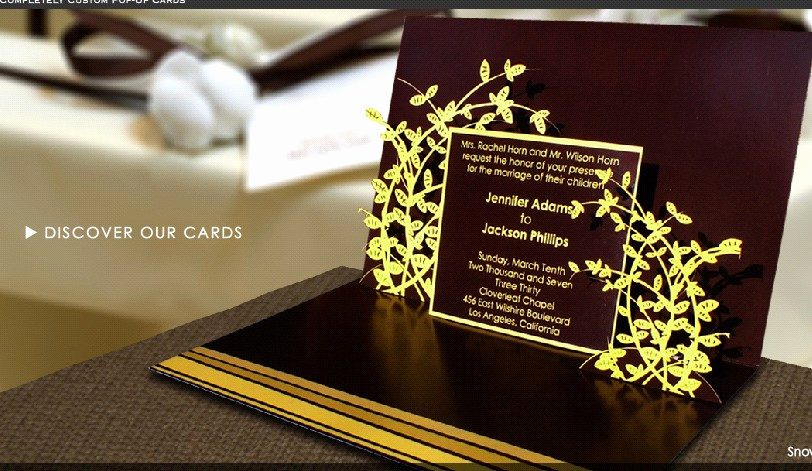 "Pop Up Invitation Card Elegant Fret Knot events ""pop Up"" Invitations that Will Have"