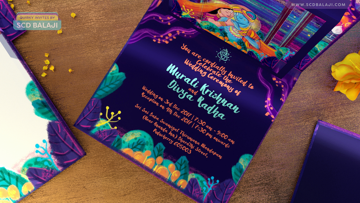 Pop Up Invitation Card Lovely Radha Krishna Indian Wedding Pop Up Invitation Card On