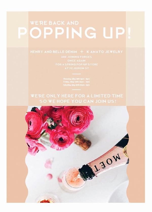 Pop Up Shop Invitation Awesome Pop Up Shop Invitation for Henry and Belle On Saic Portfolios