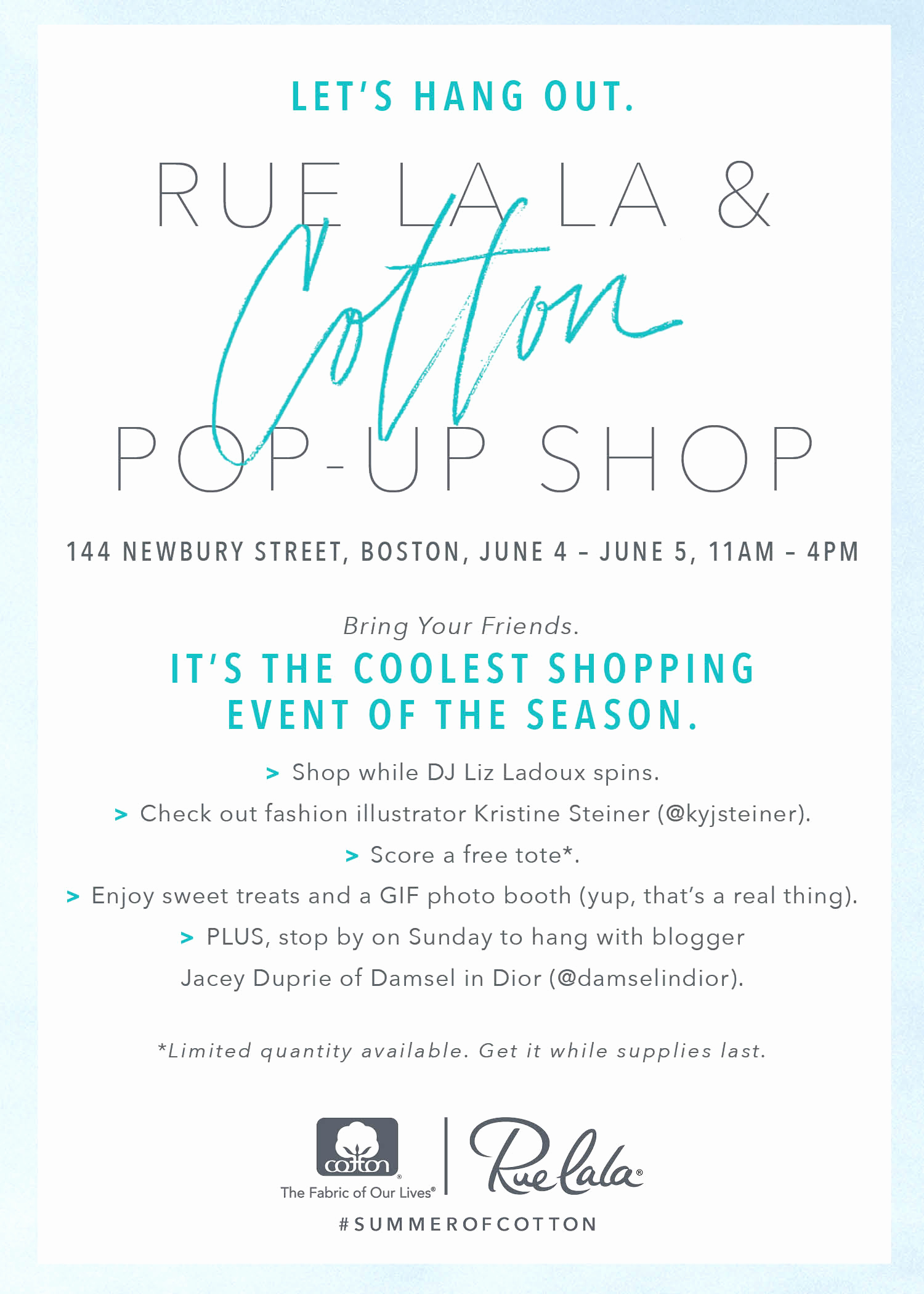 Pop Up Shop Invitation Awesome You're Invited to Rue S First Ever Cotton Pop Up Shop