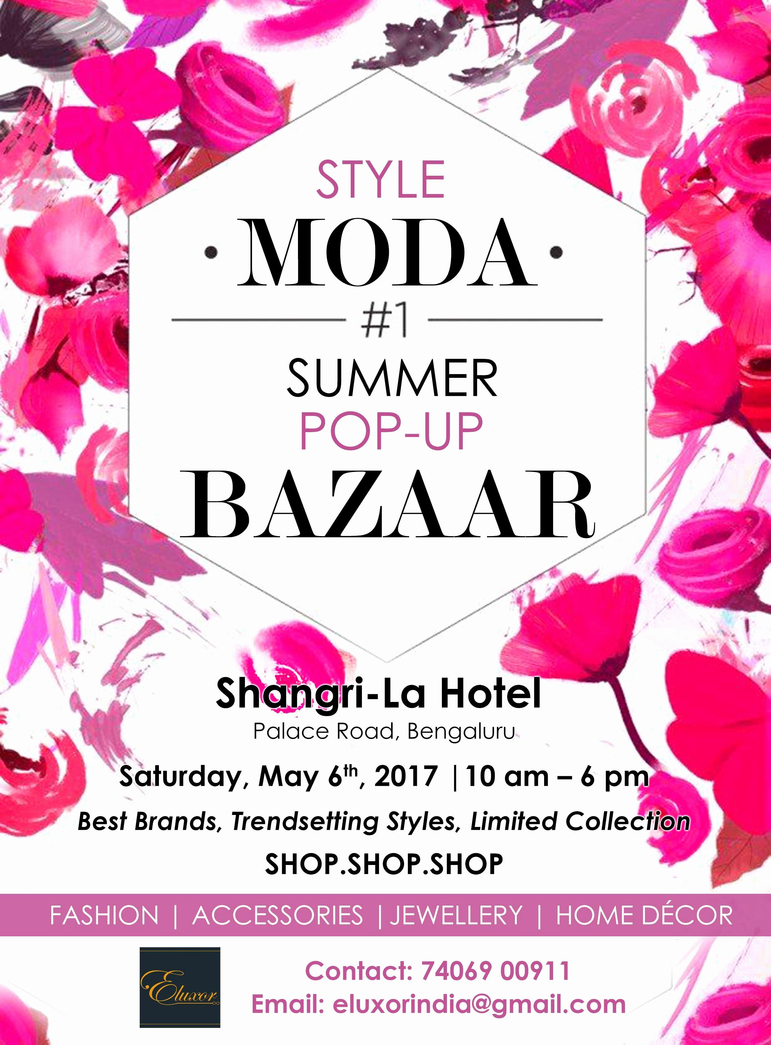 Pop Up Shop Invitation Beautiful Style Moda Summer Pop Up Bazaar Bangalore Edition at