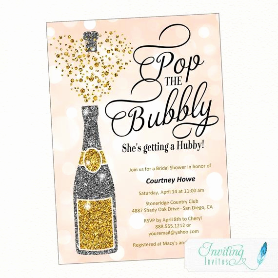 Pop Up Shop Invitation Best Of Bridal Shower Invitation Pop the Bubbly She S Getting A