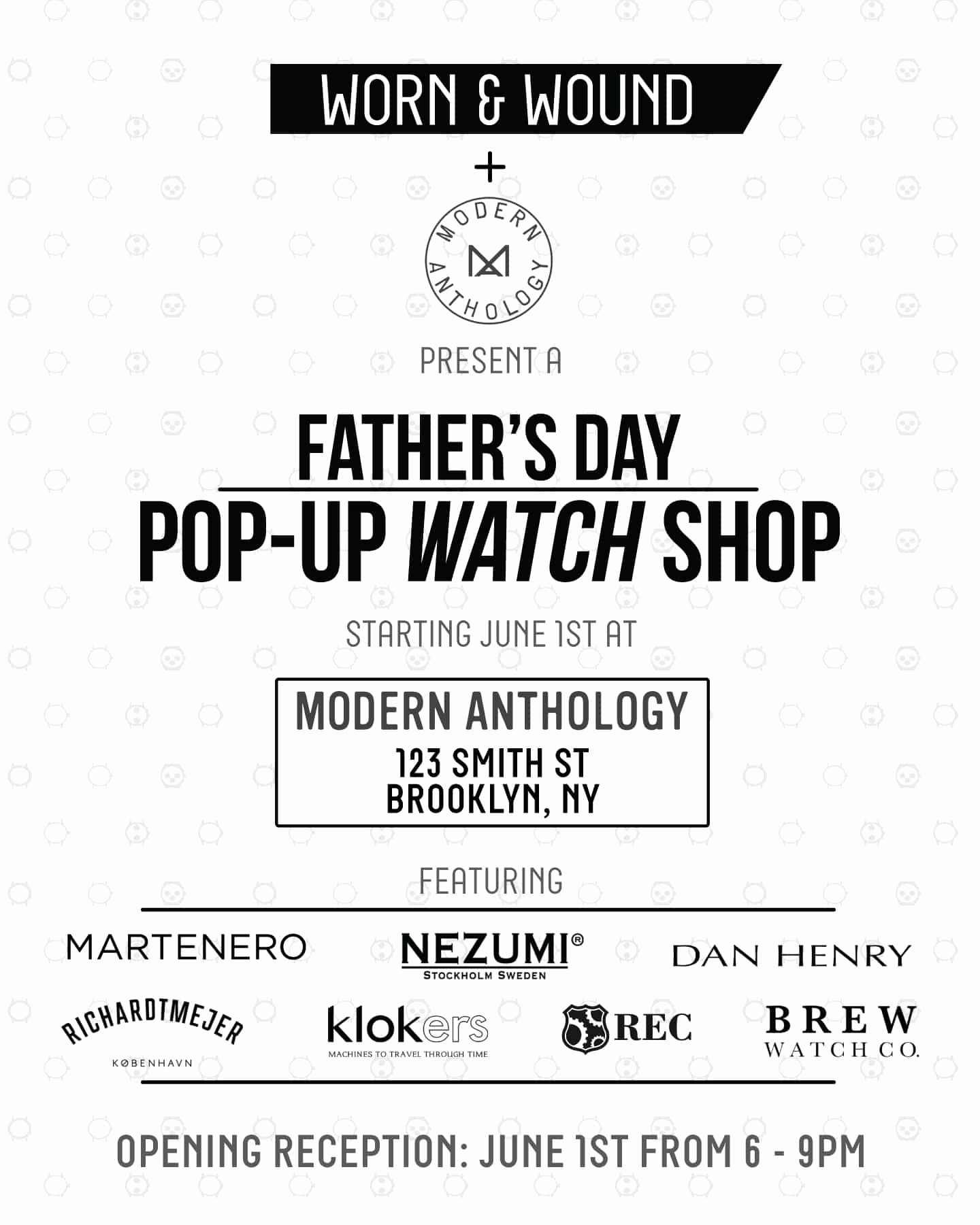 Pop Up Shop Invitation Fresh Announcing the Worn&wound X Modern Anthology Father S Day