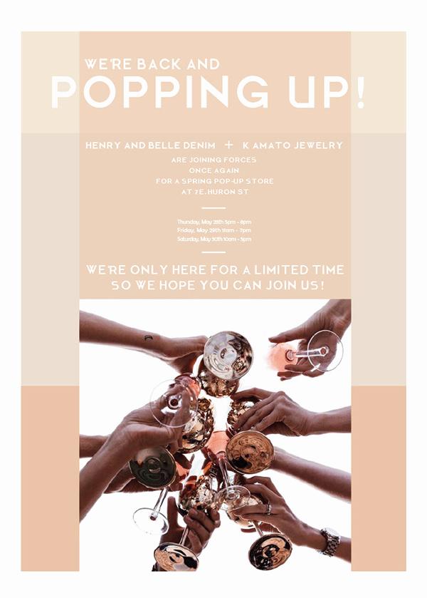 Pop Up Shop Invitation Lovely Pop Up Shop Invitation for Henry and Belle On Saic Portfolios