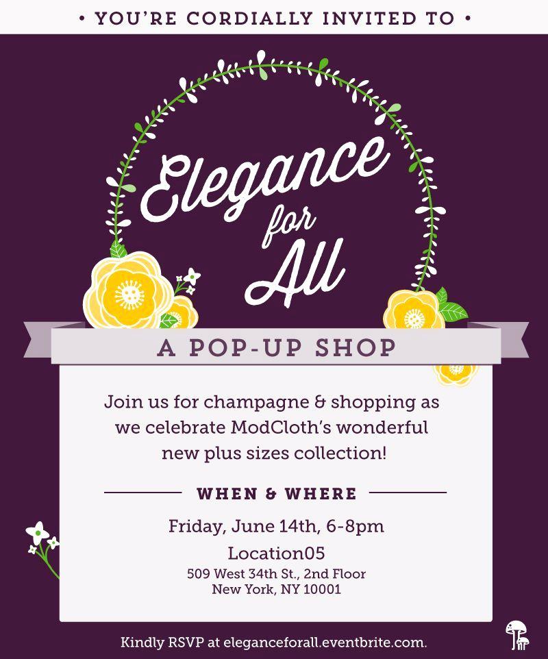 Pop Up Shop Invitation Luxury Elegance for All Pop Up Shop