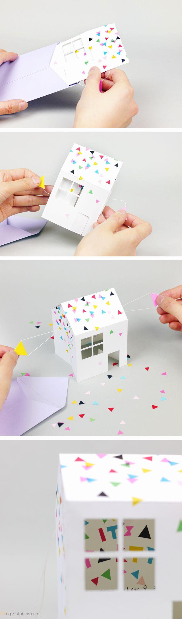 Pop Up Shop Invitation Unique Diy Pop Up House Party Invitation