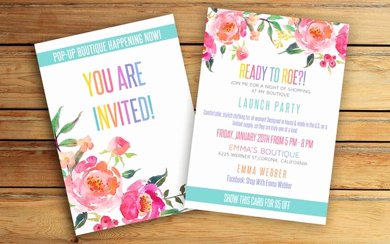 Pop Up Shop Invitation Unique Pop Up Boutique Invitation Party Invite Fashion Consultant