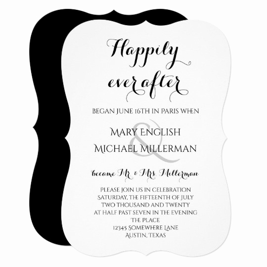 "Post Wedding Reception Invitation Wording Awesome ""we Got Married "" Casual Script Wedding Reception"