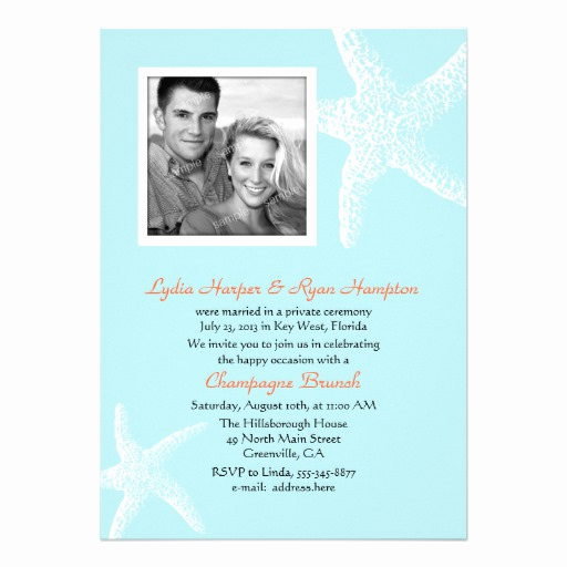 "Post Wedding Reception Invitation Wording Best Of Post Wedding Reception Ly Tropical Invites 5"" X 7"