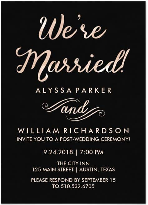 Post Wedding Reception Invitation Wording Fresh 21 Beautiful at Home Wedding Reception Invitations