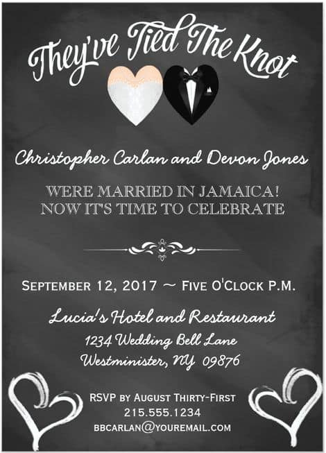 Post Wedding Reception Invitation Wording Inspirational 21 Beautiful at Home Wedding Reception Invitations