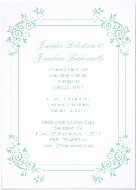 Post Wedding Reception Invitation Wording Lovely 21 Beautiful at Home Wedding Reception Invitations