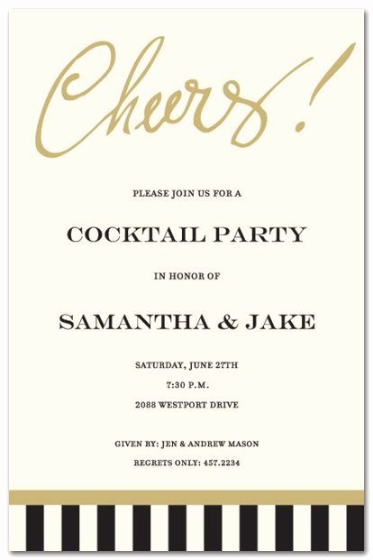 Post Wedding Shower Invitation Wording Awesome Bridal Shower Invitations Just Say Cheers