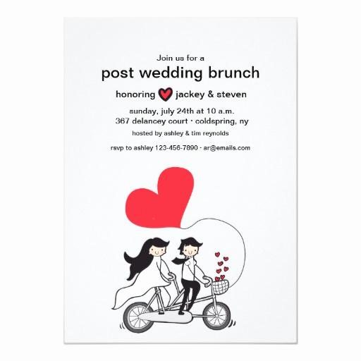 Post Wedding Shower Invitation Wording Inspirational In Love Post Wedding Brunch Invitation