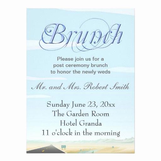 Post Wedding Shower Invitation Wording Lovely Post Wedding Brunch Invitations