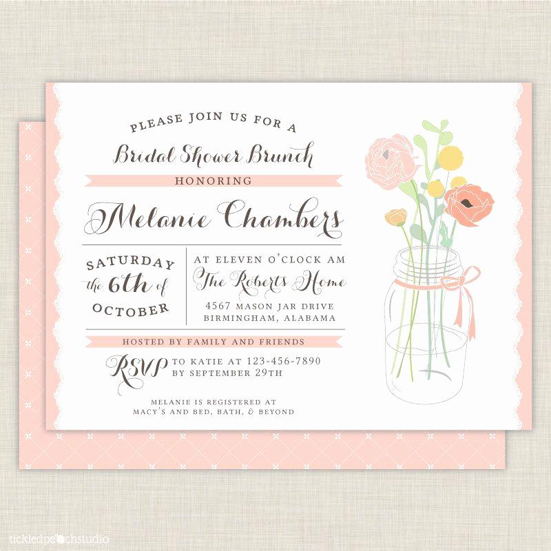 Post Wedding Shower Invitation Wording Unique Bridal Shower Brunch Invite Varneysj and Robyn Howard