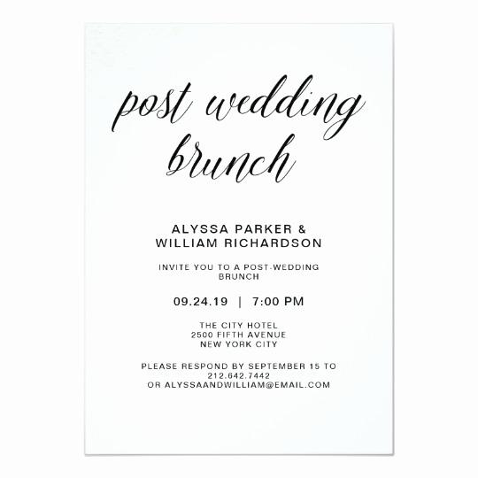 Post Wedding Shower Invitation Wording Unique Elegant Simple Typography Post Wedding Brunch Invitation