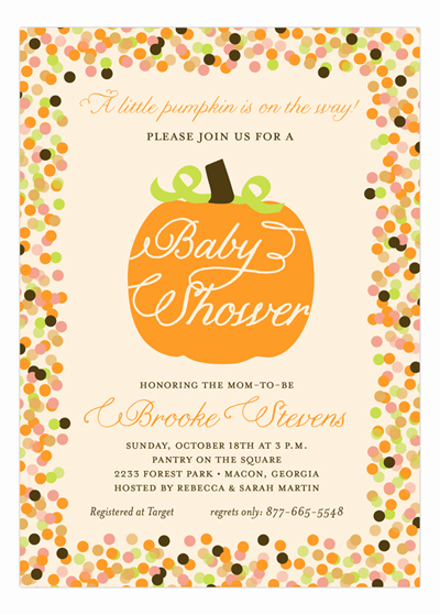 Potluck Baby Shower Invitation Best Of Fall and Thanksgiving Party Wording Ideas Polka Dot Design