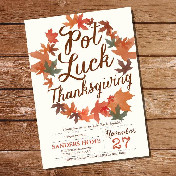 Potluck Baby Shower Invitation Best Of Pot Luck Thanksgiving Invitation Thanksgiving Invitation