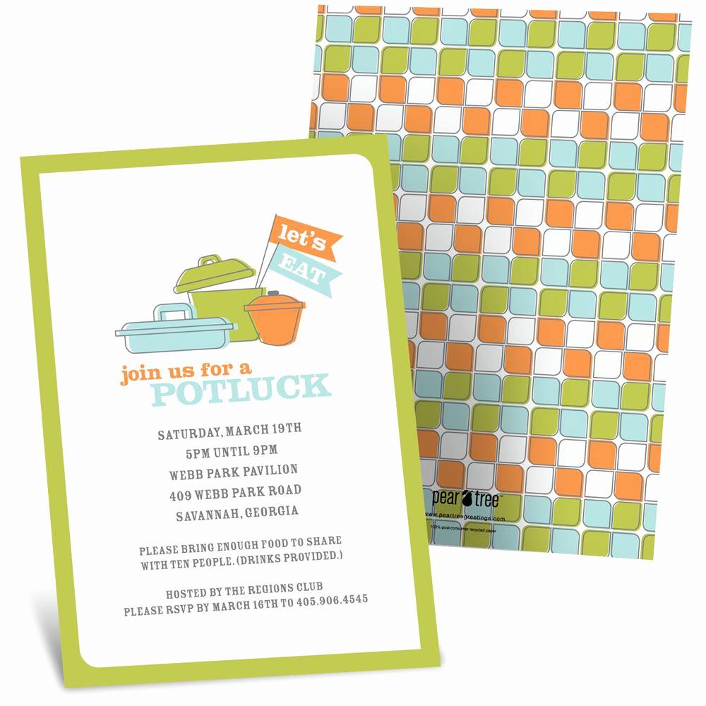 Potluck Baby Shower Invitation Fresh Let S Dish Potluck Invitations