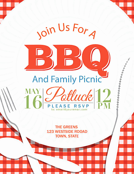Potluck Bbq Invitation Wording Awesome Best Potluck Illustrations Royalty Free Vector Graphics