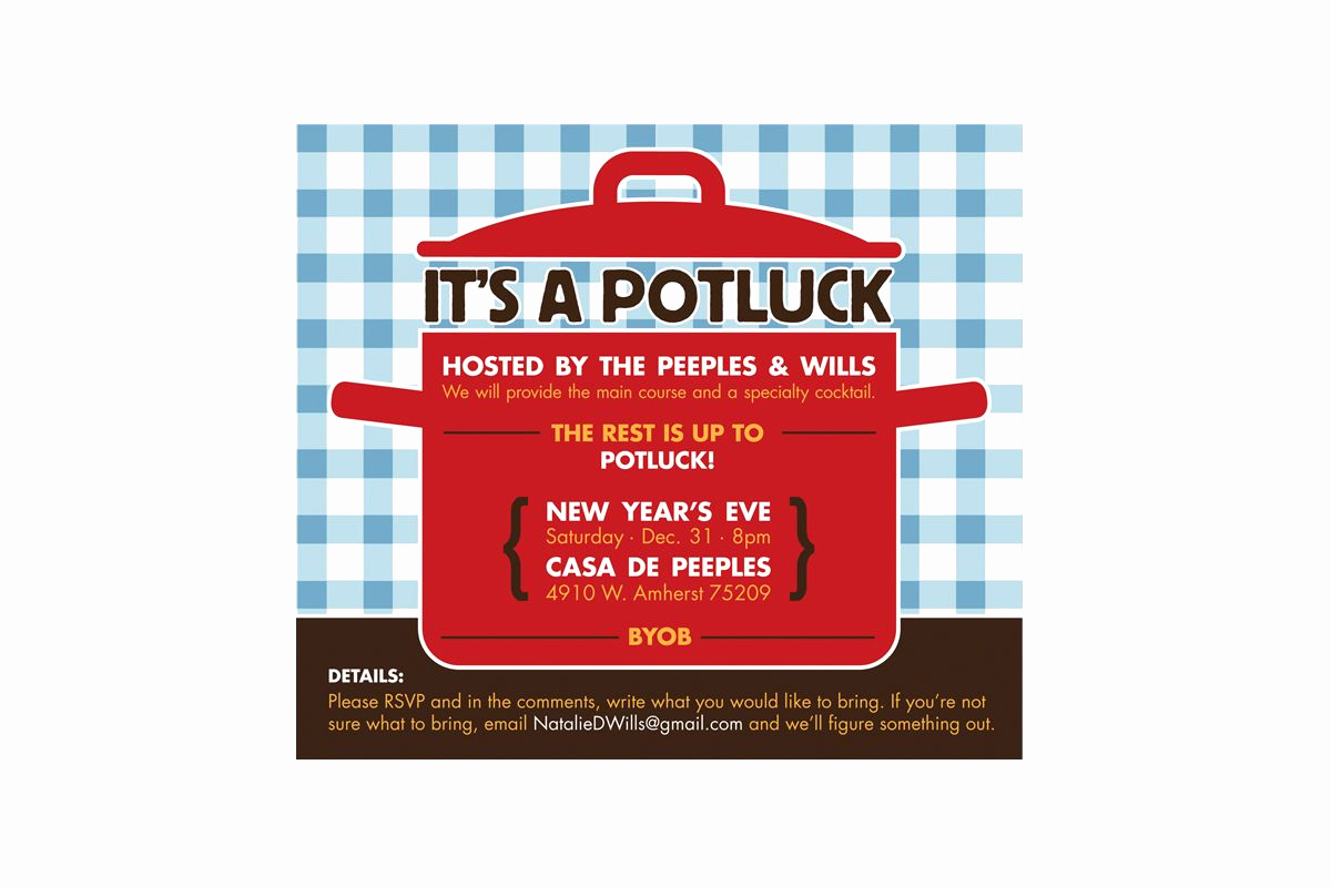 Potluck Bbq Invitation Wording Best Of Potluck Invitation Template Free 2016