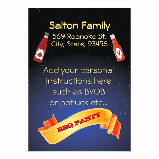 Potluck Bbq Invitation Wording Fresh Summer Bbq Invitations