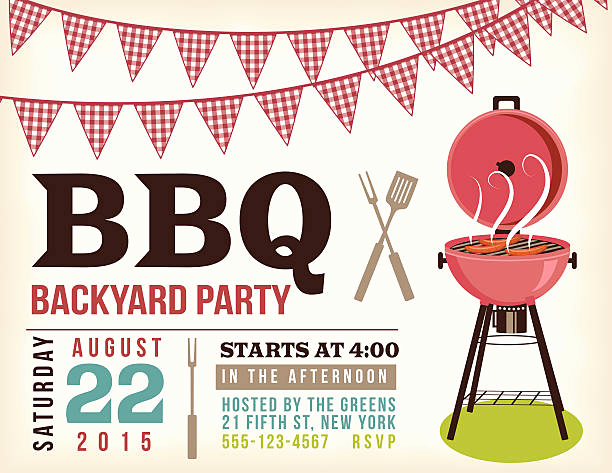 Potluck Bbq Invitation Wording Inspirational Best Potluck Illustrations Royalty Free Vector Graphics