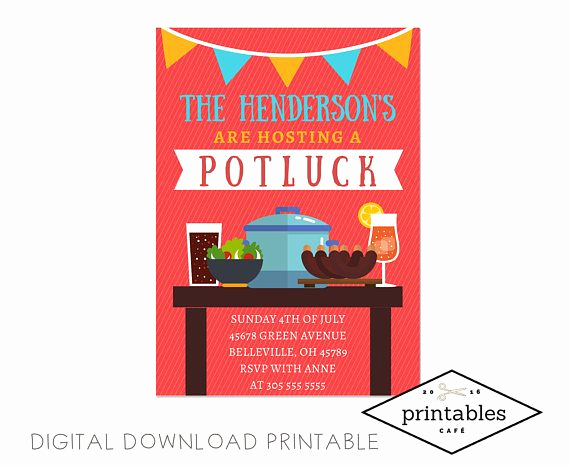 Potluck Bbq Invitation Wording Lovely 25 Best Ideas About Potluck Invitation On Pinterest