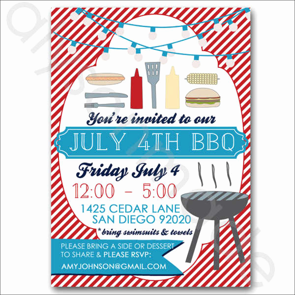 Potluck Bbq Invitation Wording Luxury 12 Potluck Party Invitation Designs & Templates Psd Ai