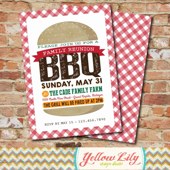 Potluck Bbq Invitation Wording Luxury Backyard Bbq Invitation Family Reunion Neighborhood Bbq