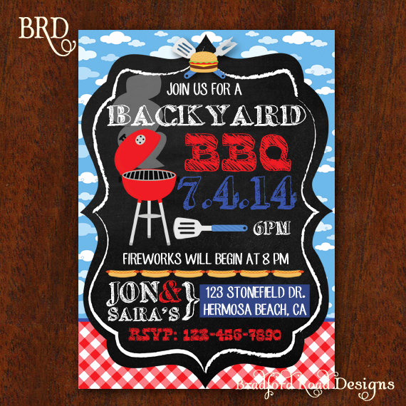 Potluck Bbq Invitation Wording Luxury Bbq Invitation Backyard Bbq Barbecue Party Fourth Of July
