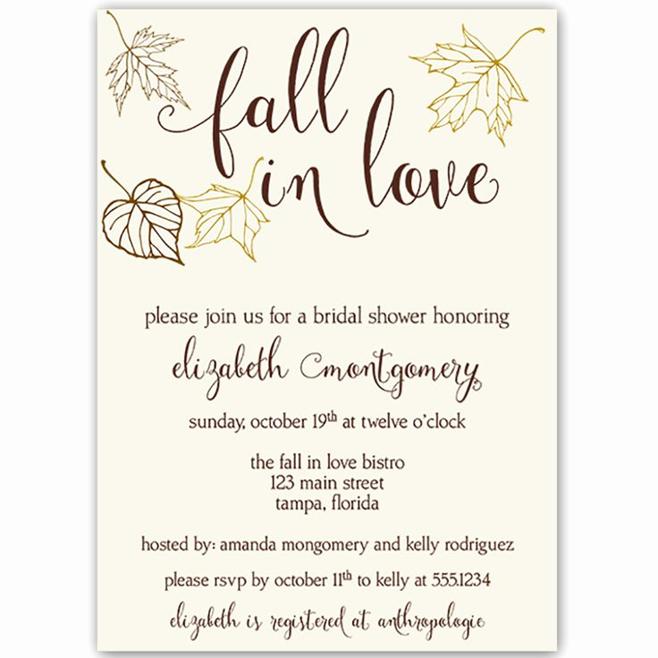 Potluck Bridal Shower Invitation Wording Beautiful 17 Best Ideas About Fall Party Invitations On Pinterest