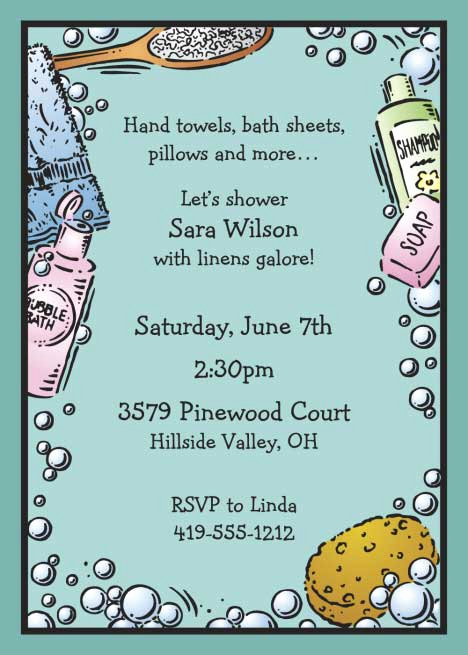 Potluck Bridal Shower Invitation Wording Unique Bridal Bath Shower Invitation