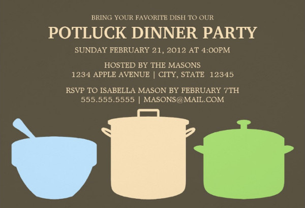 Potluck Dinner Invitation Wording Awesome 46 event Invitations Designs & Templates Psd Ai