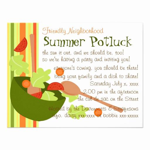 Potluck Dinner Invitation Wording Beautiful A Fun and Delicious Salad Invitations