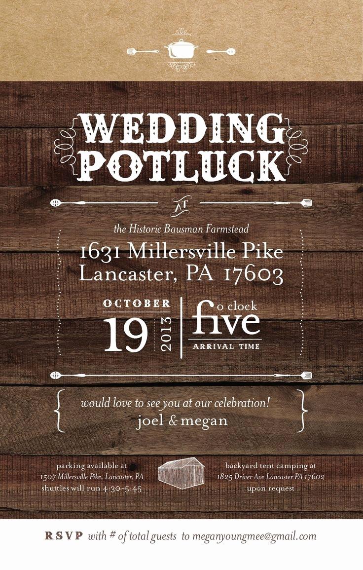 Potluck Dinner Invitation Wording Beautiful Potluck Wedding Reception Invitation Cobypic