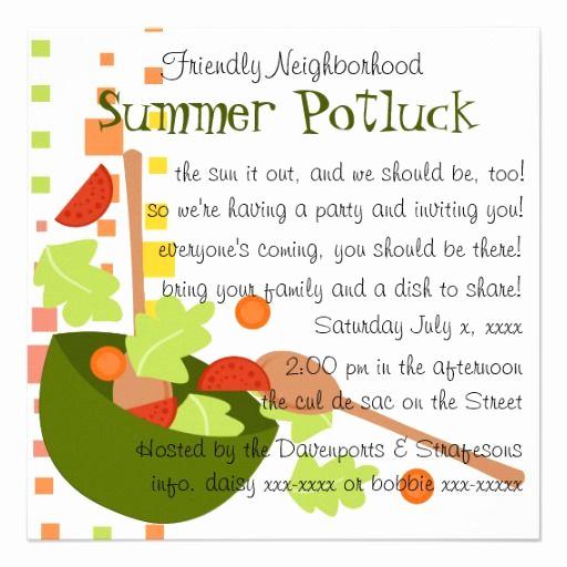 Potluck Dinner Invitation Wording Fresh Cute Potluck Invitation Wording