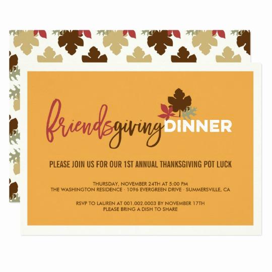 Potluck Dinner Invitation Wording Luxury Friendsgiving Pot Luck Thanksgiving Dinner Invite