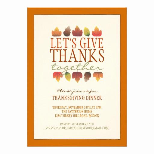Potluck Dinner Invitation Wording Luxury Leaves Of Autumn Thanksgiving Dinner Invitation