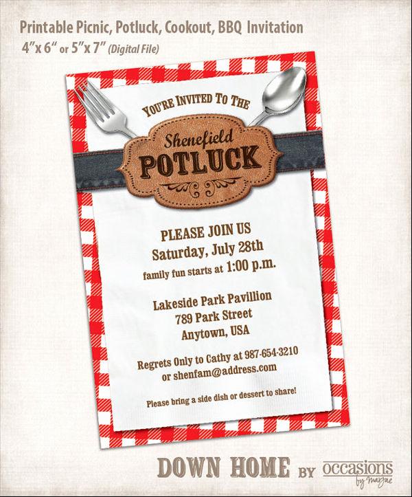 Potluck Dinner Invitation Wording New 13 Potluck Email Invitation Templates Psd Ai