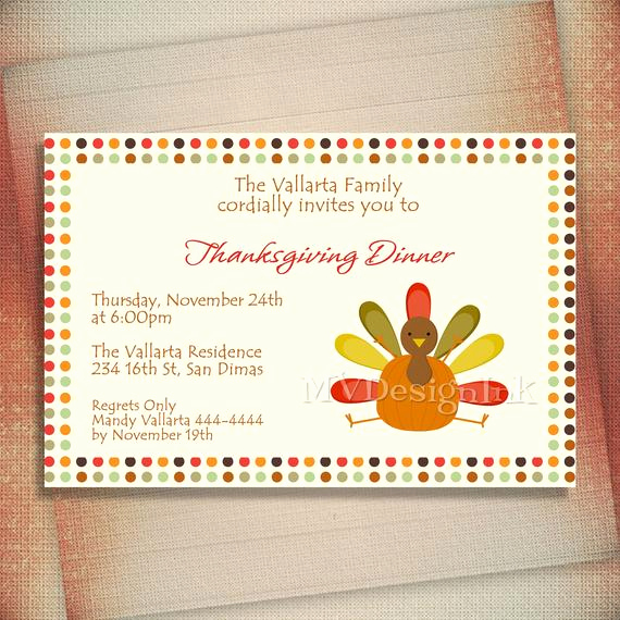 Potluck Dinner Invitation Wording New Thanksgiving Dinner Invitation Thanksgiving Potluck by