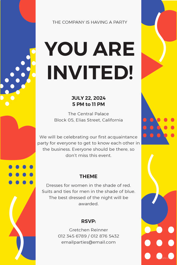 Potluck Invitation Email Sample Awesome 15 Email Invitation Template Free Sample Example