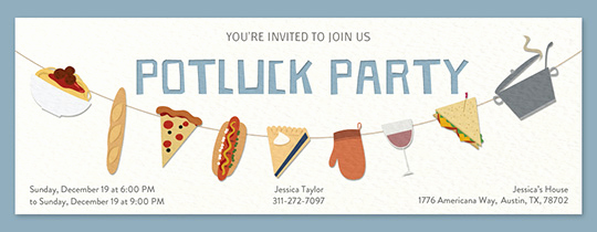 Potluck Invitation Email Sample Elegant Free Potluck Invitations