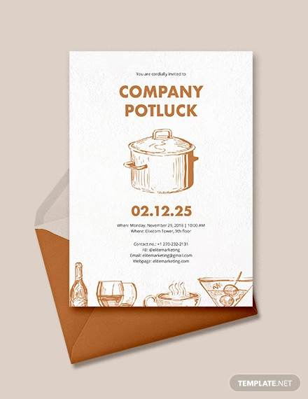 Potluck Invitation Email Sample Fresh 18 Awesome Potluck Invitation Designs & Creatives Psd