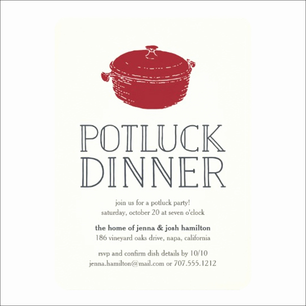 Potluck Invitation Template Free Lovely 12 Potluck Party Invitation Designs & Templates Psd Ai